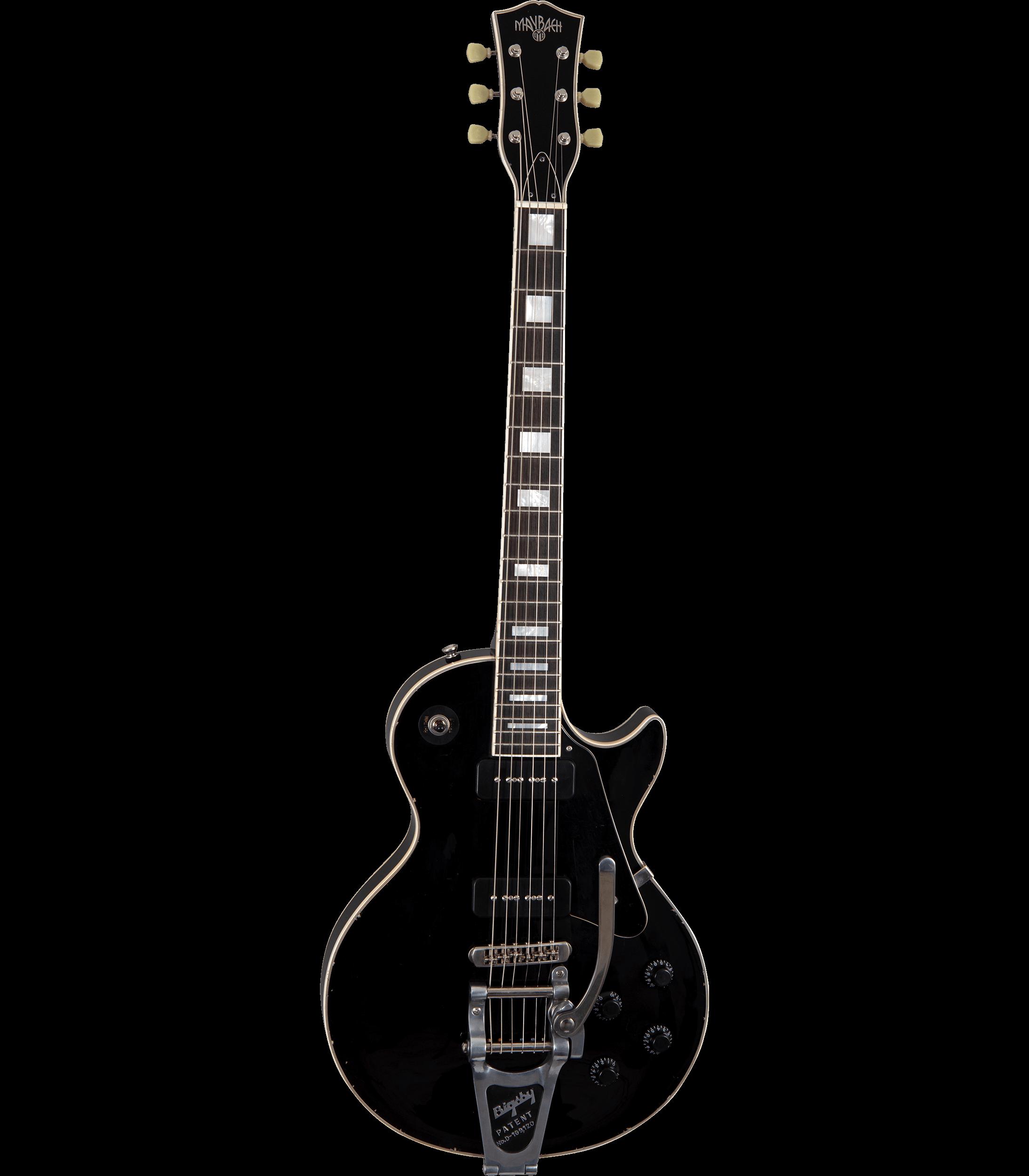 Maybach Lester Black Velvet Custom P90 Bigsby B7 60s Slim Taper Hero-Shot