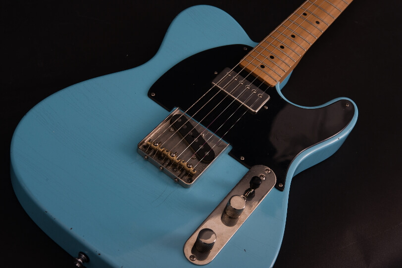 Teleman_Keith_52-2_Maple-Neck-Aged-Look_Full-Solid-Body_Maybach_Electric-Guitars