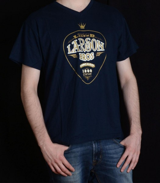 Larson-T-Shirt-ROAL-S-50-Rayon-Jersey-Navy-Blue