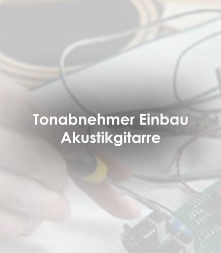 Tonabnehmer Einbau Akustikgitarre
